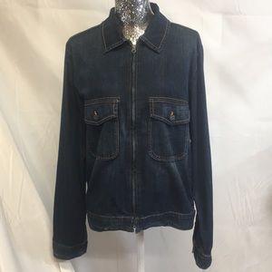 Adriano Goldschmied denim zip jacket Medium New